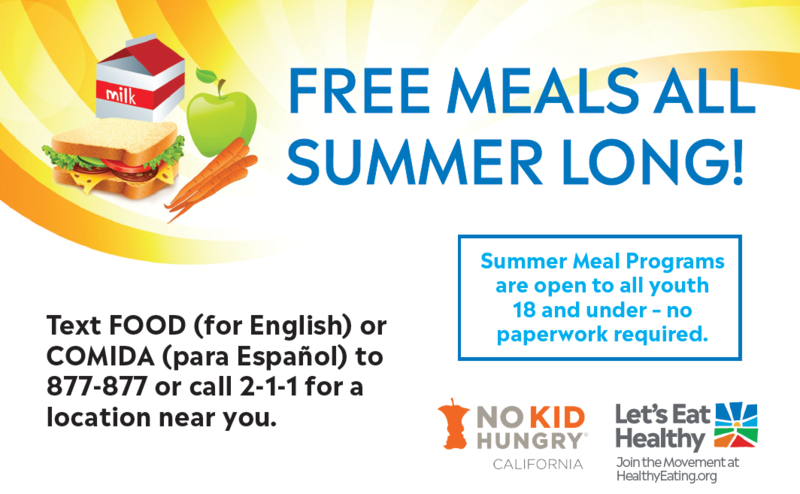 Free Meals All Summer Long