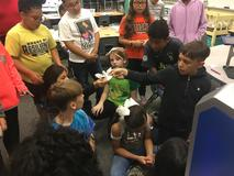 North Elementary students recently learned how to use a 3D printer. Students were able to produce a three-dimensional object from a 3D model or CAD file. The printer was funded by a grant from the WSISD Education Foundation.