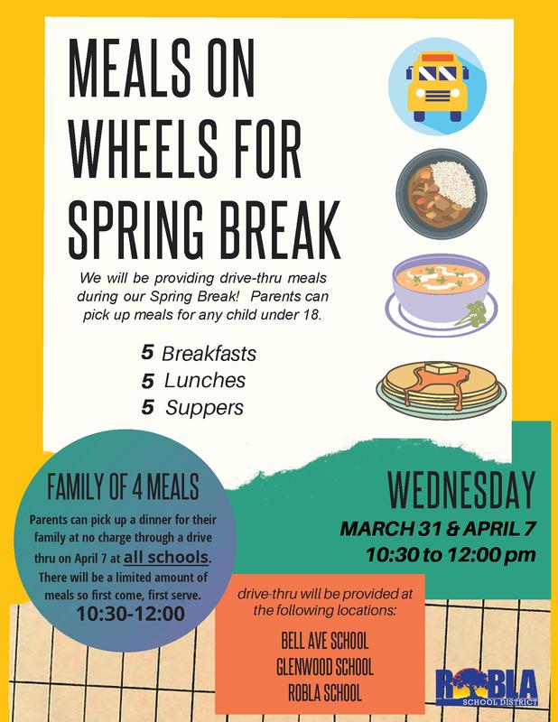 Spring Break Meals on Wheels