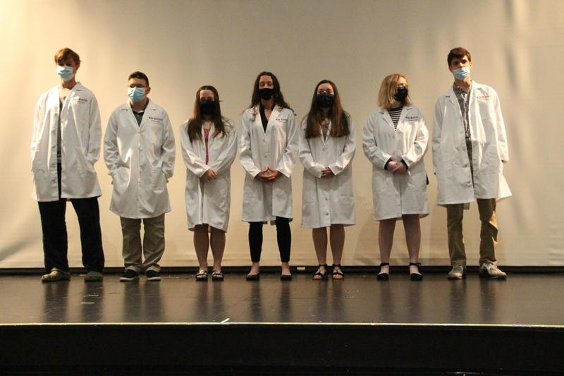 Seven Newest White Coat Recipients from PLTW Biomedical Program at Gananda Central School District