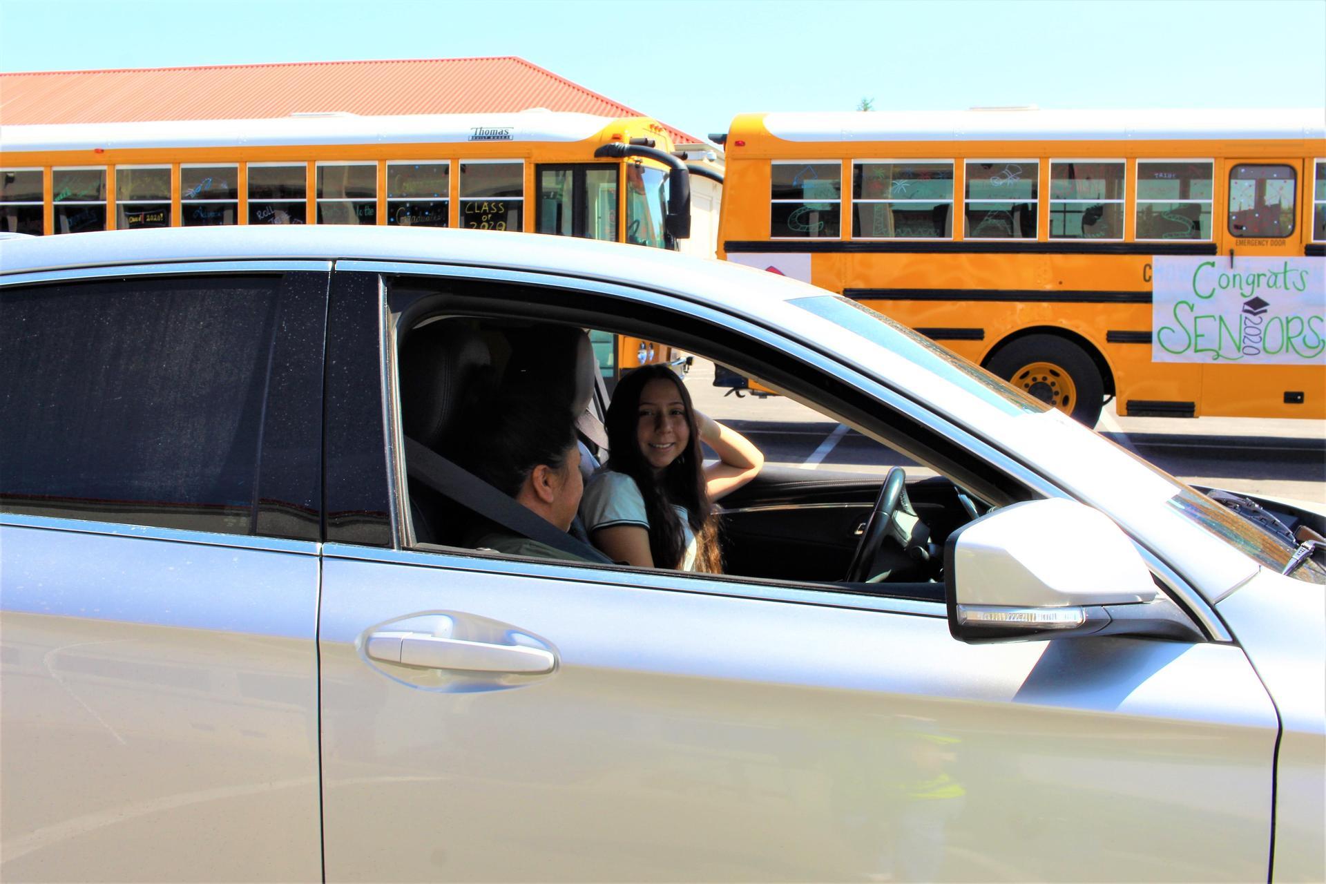 Stephanie Alvarez driving through