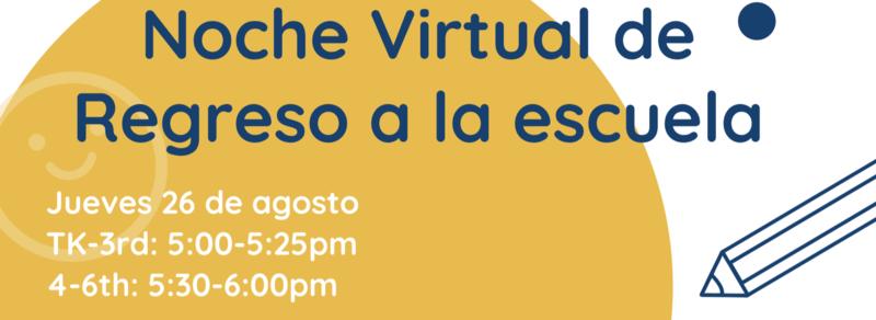Noche Virtual de Regreso a la Escuela Featured Photo