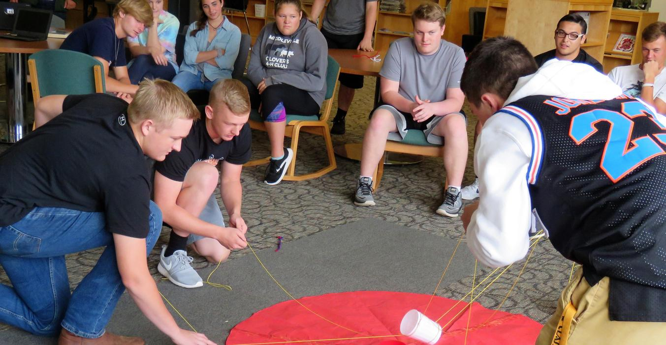 Physics students test their problem-solving skills with a class project.