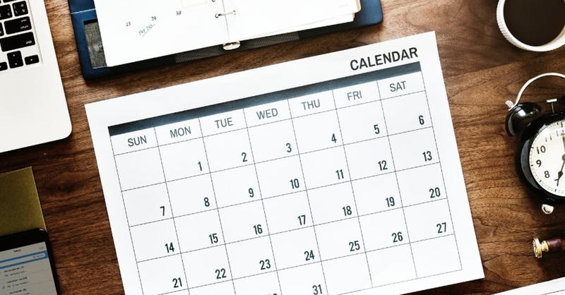 Calendar graphic.