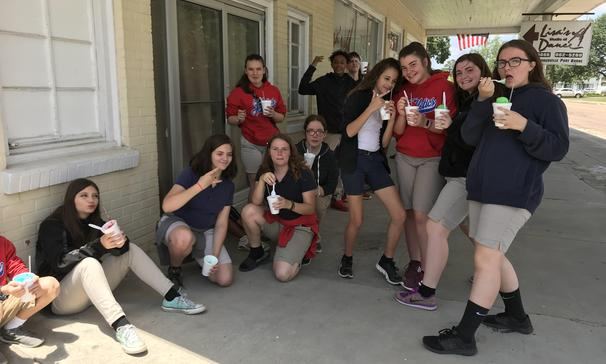 Thanks to Wyble's Snoballs for helping with a fundraiser.