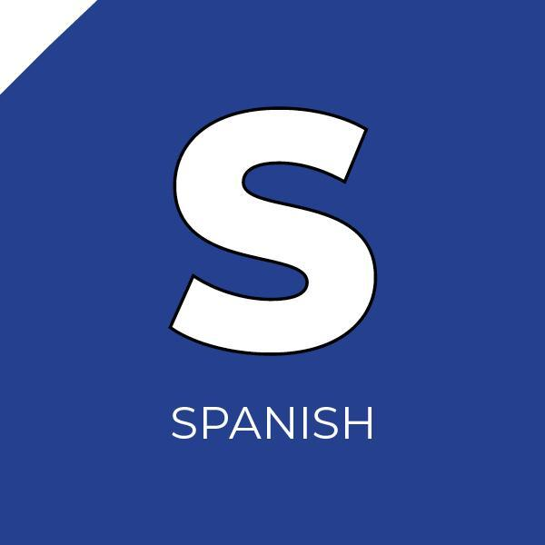 The letter S inside a blue box