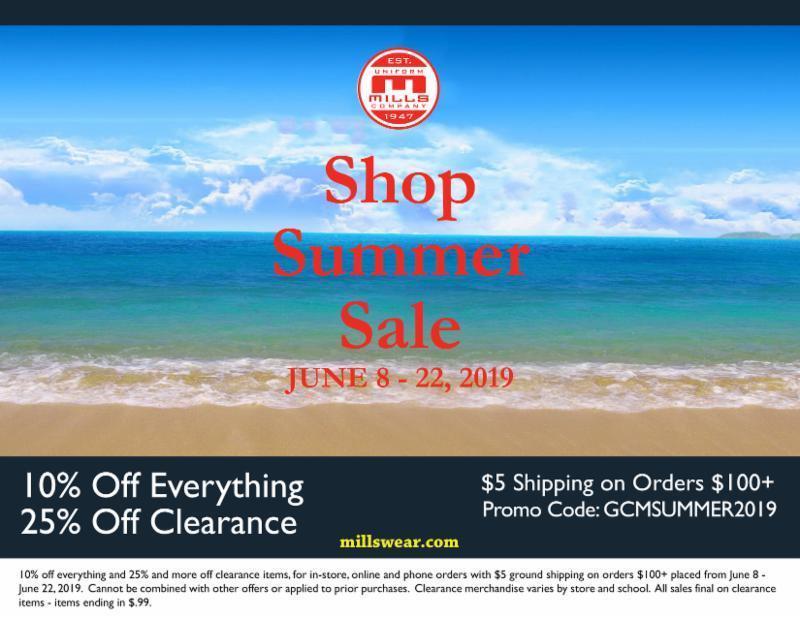 Mills Uniform Sale! Featured Photo