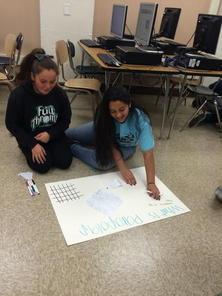 Marguerita students work together on their project.