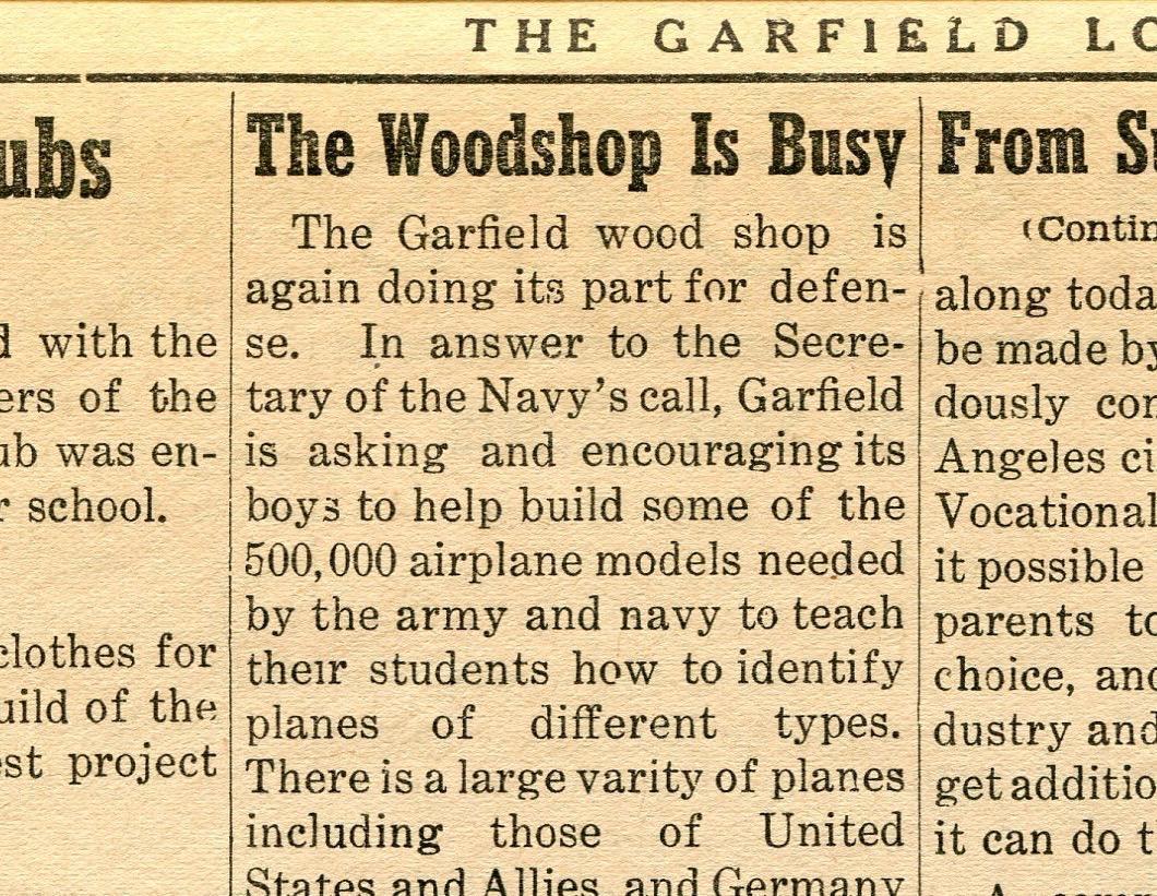 Woodshop works for defense