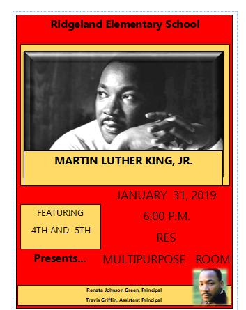 MLK Oratory Contest 2019 flyer