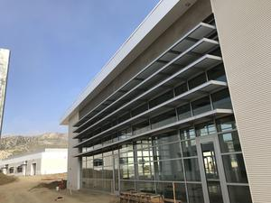 Exterior image of Castaic High School building with newly installed windows