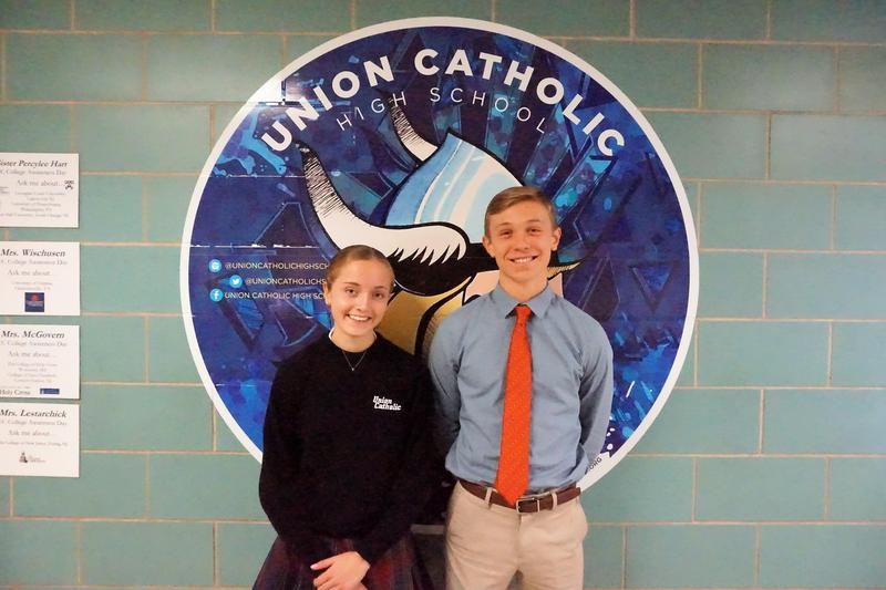 Union Catholic's Sarah Abood and Andrew Palacio achieve perfect scores on portions of the ACT Thumbnail Image