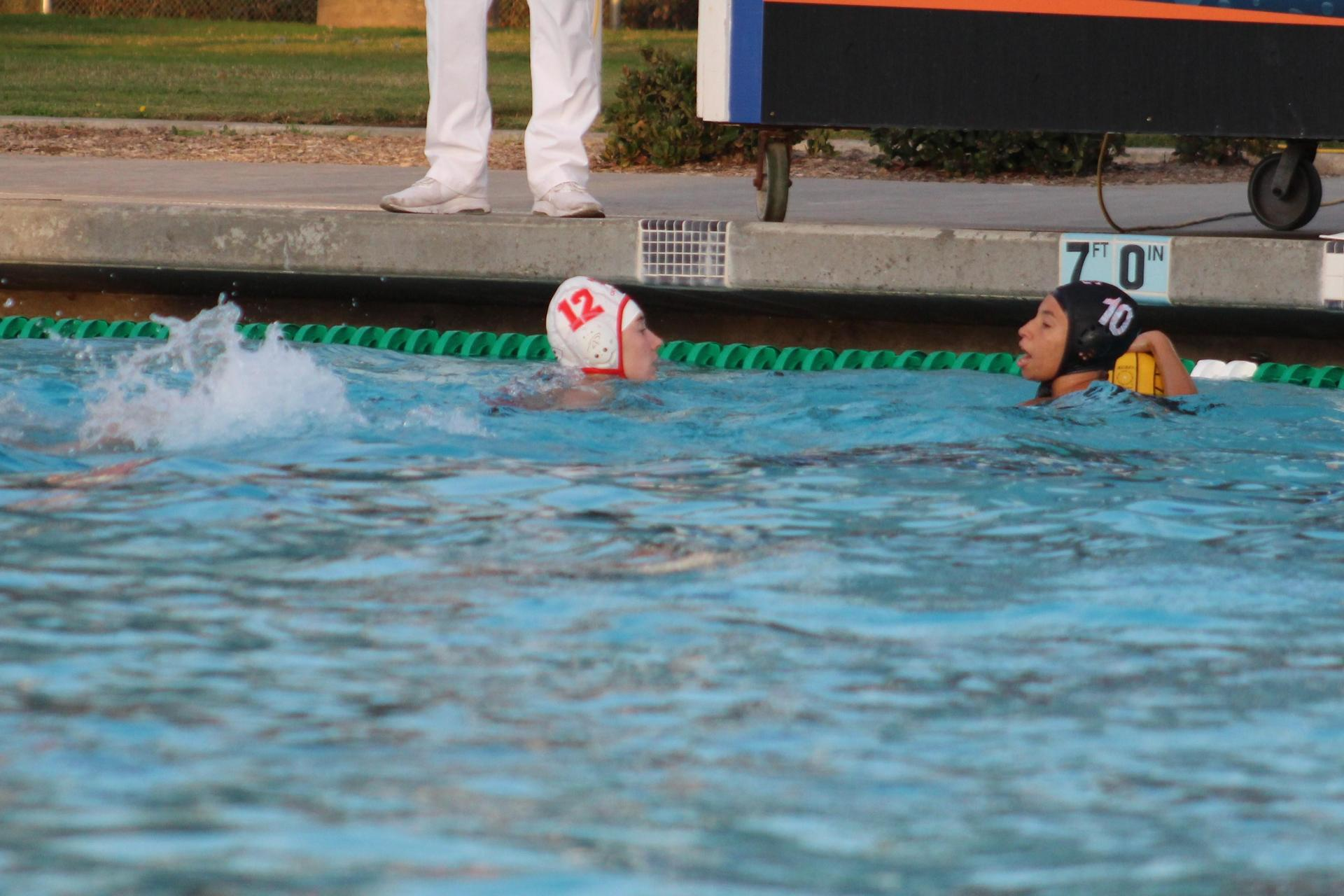 Girls Waterpolo playing against Central