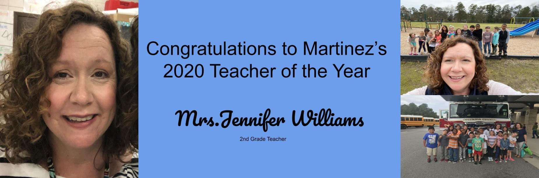Teacher of the year banner