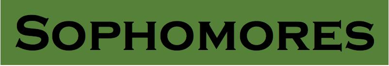 Sophomores Logo