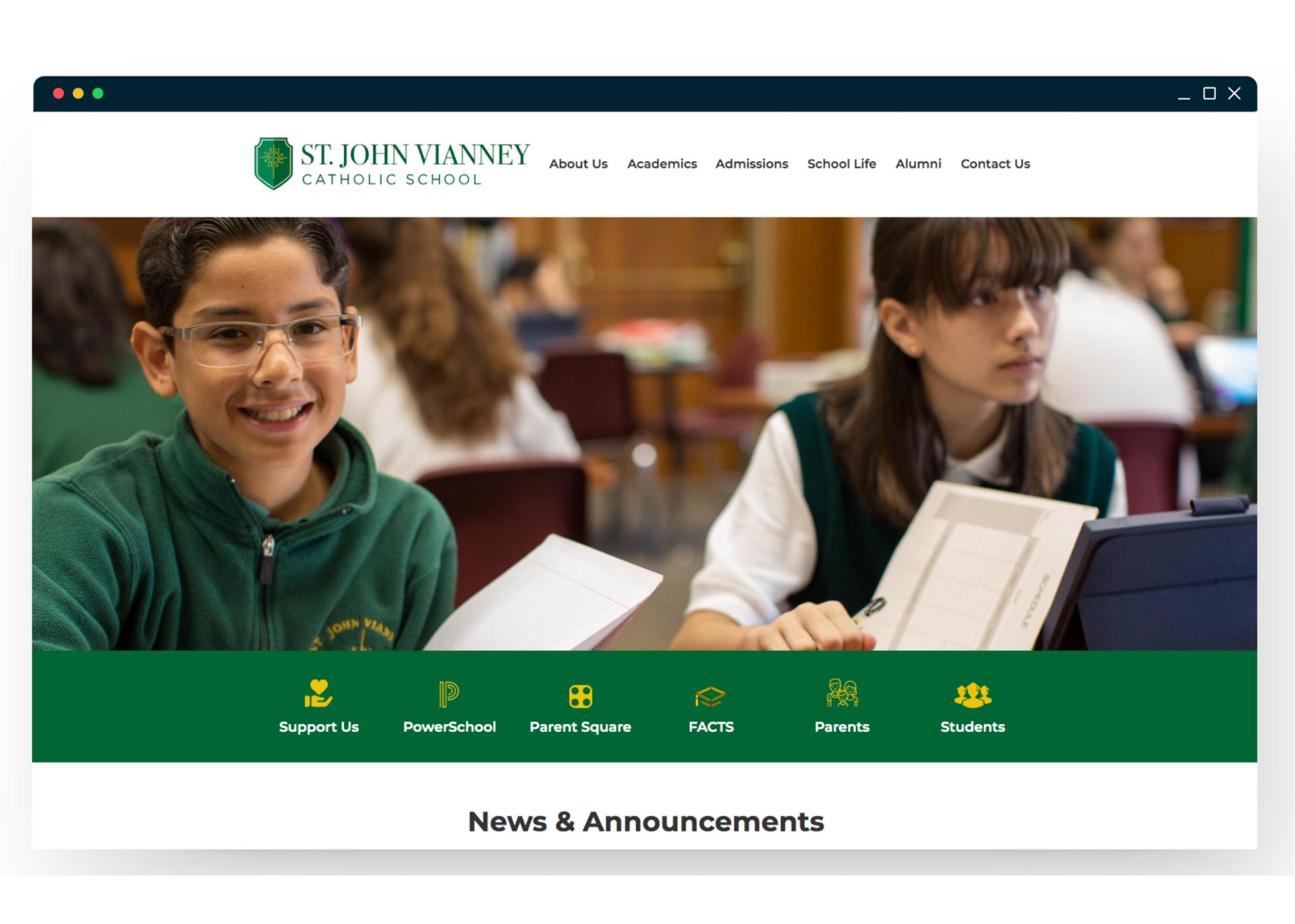 St. John Vianney Homepage