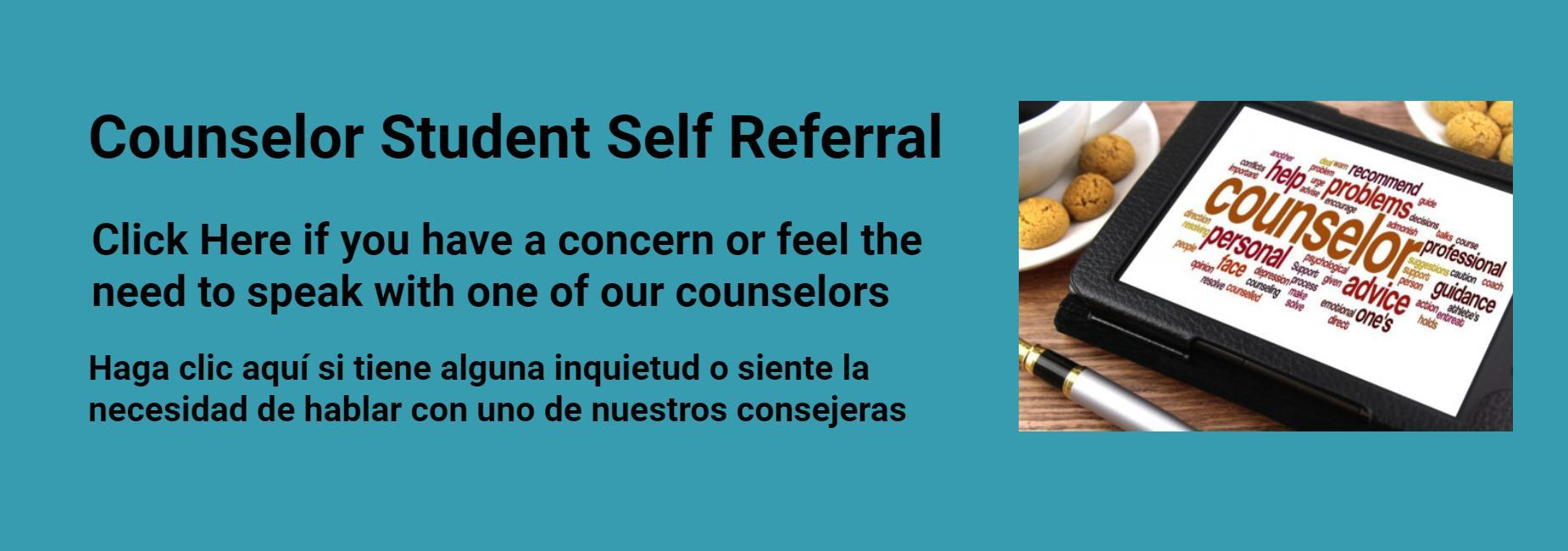 Counselor Self Referral