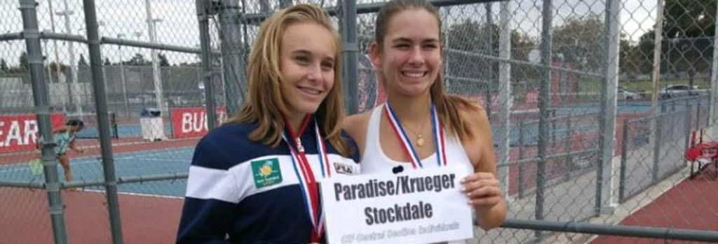 Erica Paradise and Greta Krueger win the doubles Valley Championship