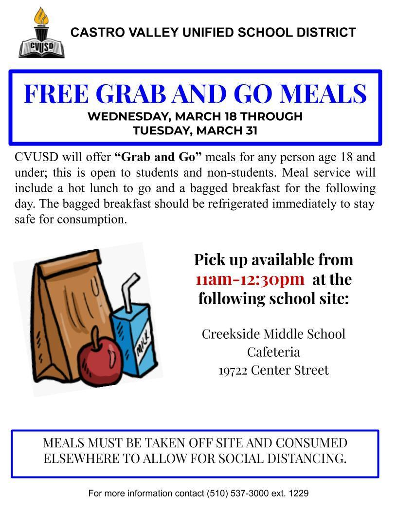 Free Bagged meals