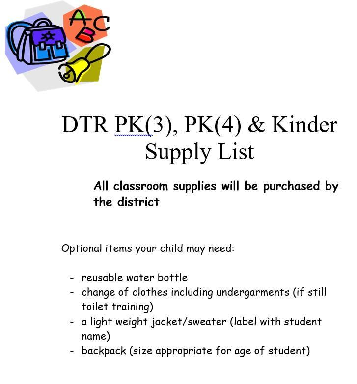 DTR Supply List Featured Photo