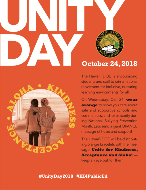 UNITY DAY - OCTOBER 24 Featured Photo