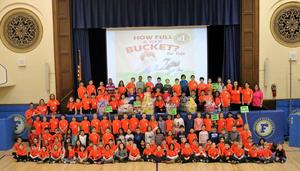Franklin School 2nd graders created themed baskets for Westfield's first responders and other public service providers as part of grade level kindness activities.