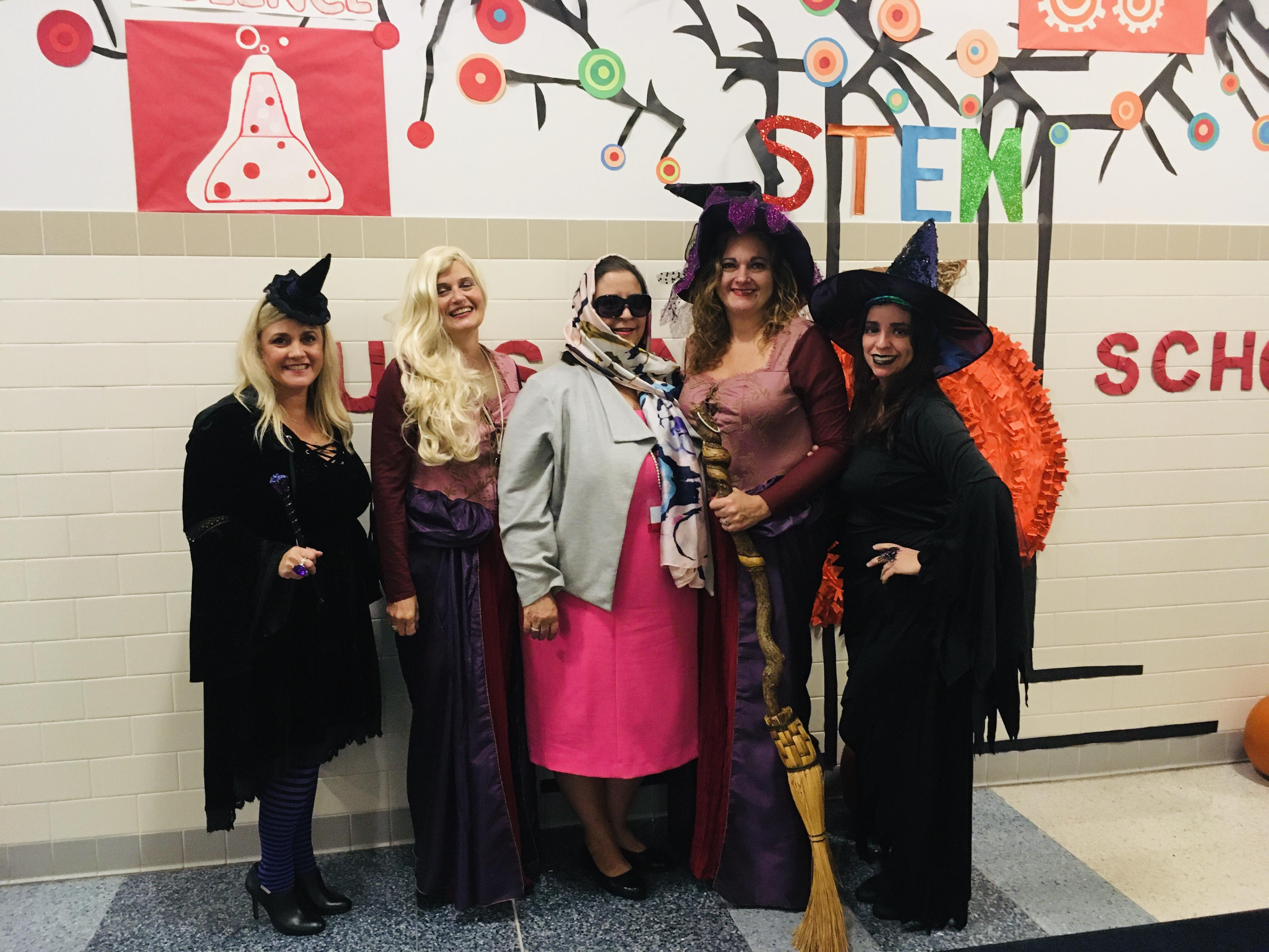 Hudson Admin with Supt Abatto in costume