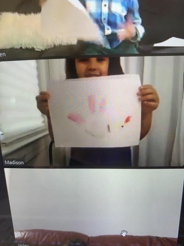 Madison holding turkey drawing