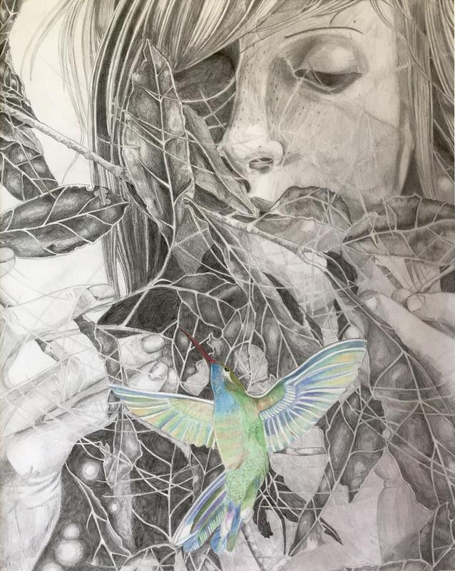portrait of student and bird-TALIA