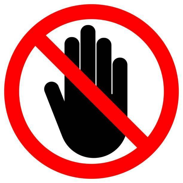 hand signaling stop