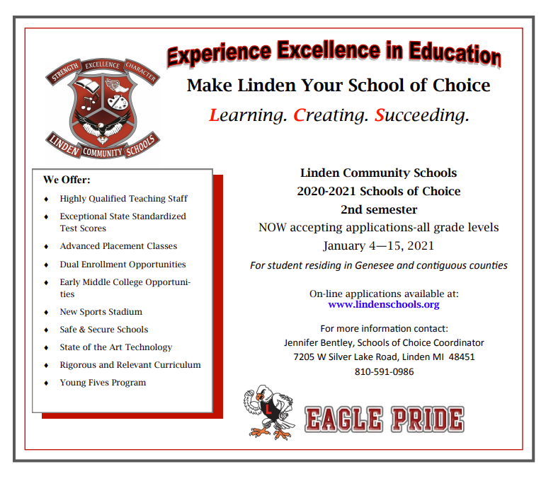 Make Linden your School of Choice for 2nd Semester! Thumbnail Image