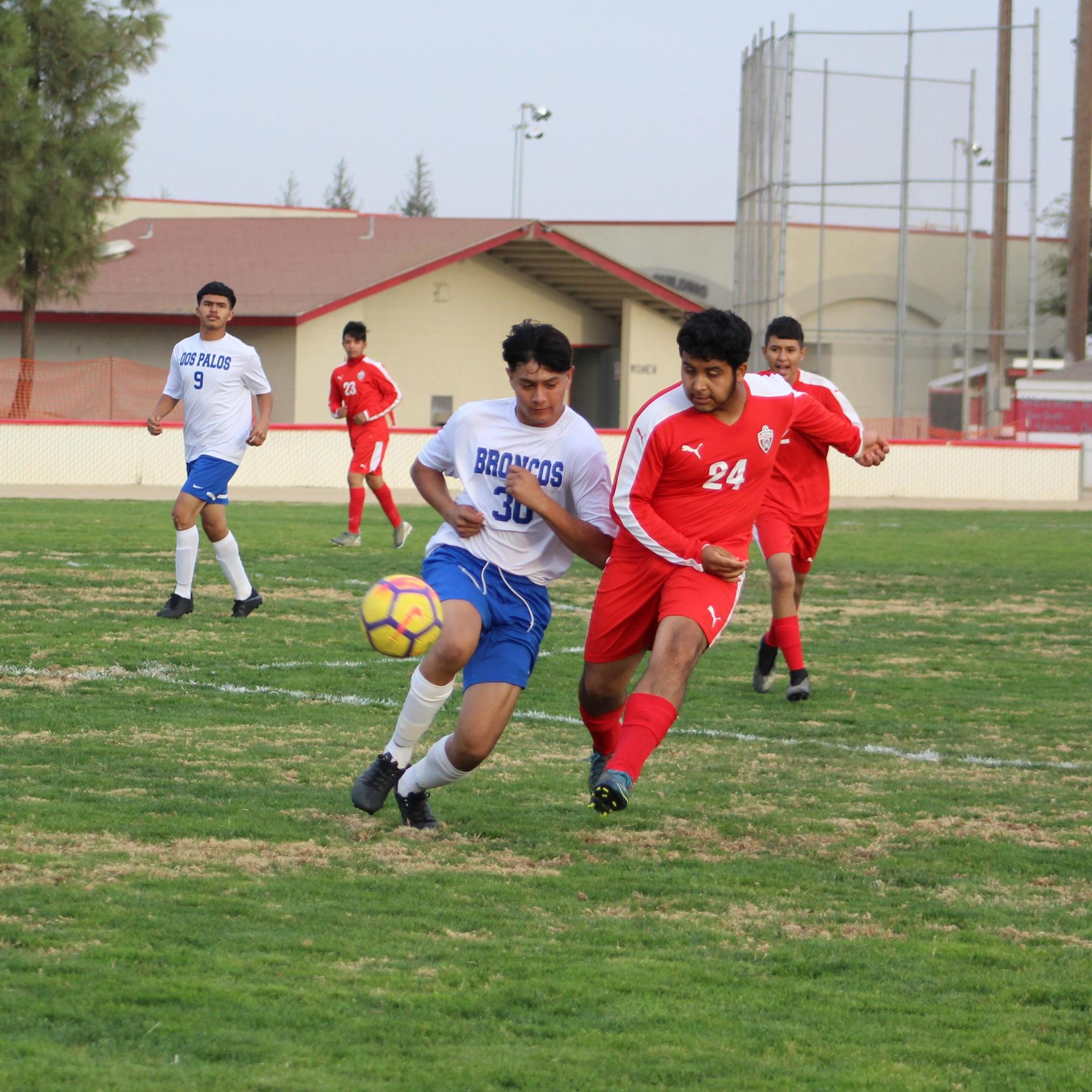 David Flores Chavez Fighting For the Ball