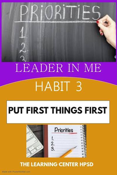 Hab. 3 Put 1st things 1st