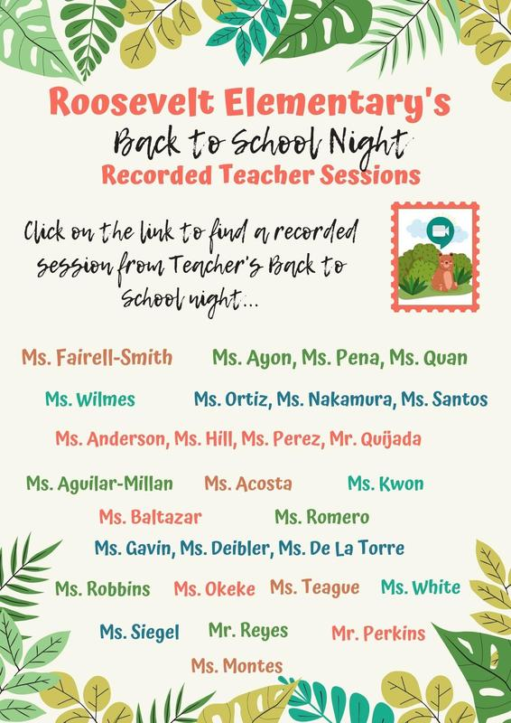 Back to School Night Teacher Session Recordings Featured Photo