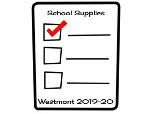 Westmont School Supply List 2019-2020