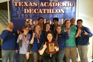 academic decathlon students win first place at regional competition