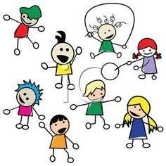 clipart of kids playing
