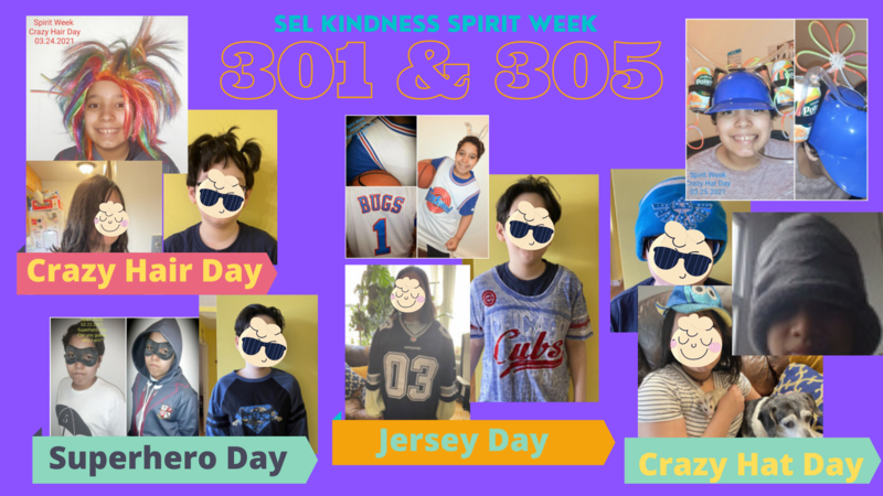 Spirit week collage
