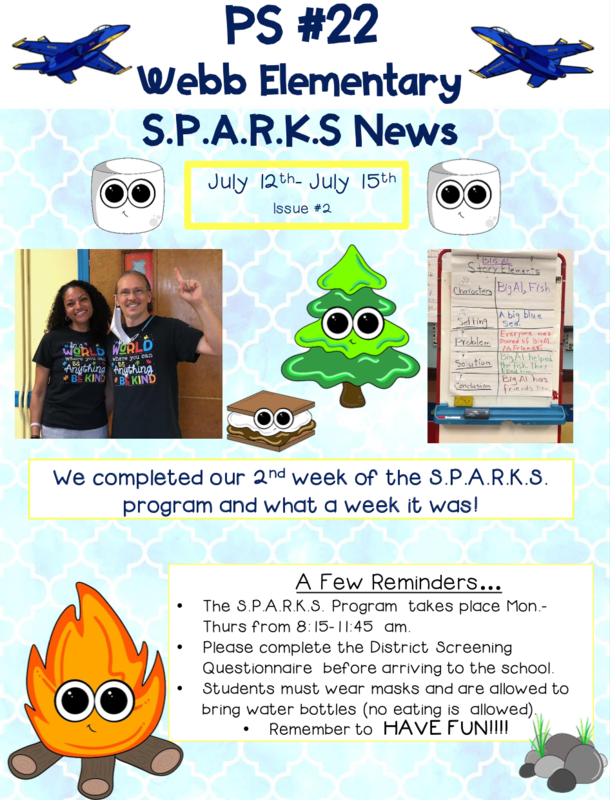 Another Great Week of SPARKS Summer Program at PS #22 Featured Photo