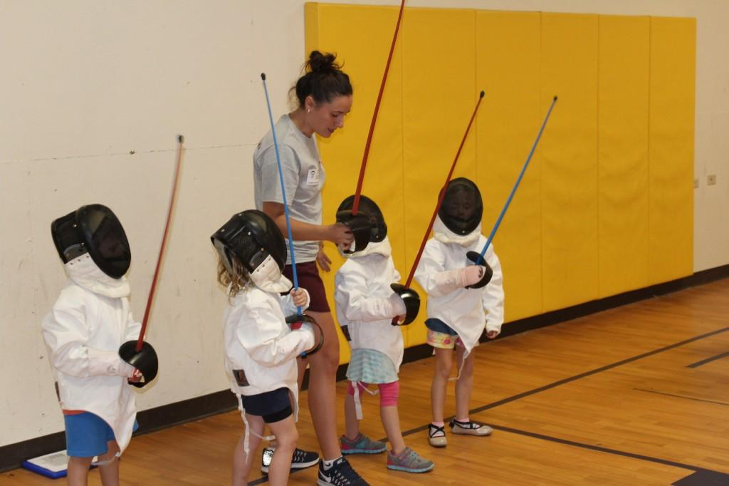 Fencing Club had their first practice with their new coach. Elementary students were joined by the Fencing Academy of Denver's newest coach, Teodora. She is from the Country of Georgia and is training for the 2020 Tokyo Olympics!