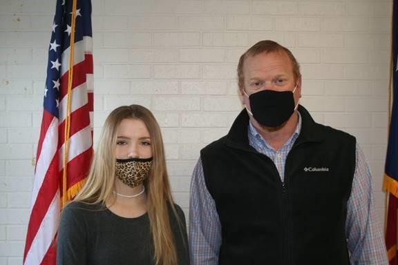 Mr. Edwards and Brooke Meier