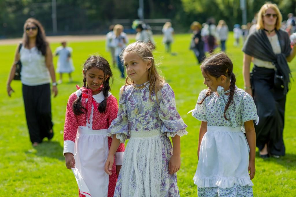 Girls dressed up for Heritage Festival