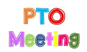 THE WORD PTO MEETING IN DIFFERENT COLORS.