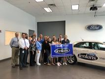 BUHS Thanks Jenkins Ford of Buckhannon for the New Drivers Education car they graciously provided.