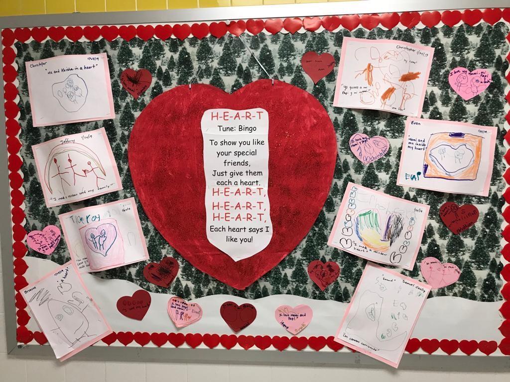 heart drawing activity display