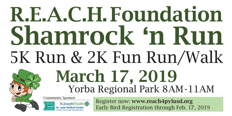2019 REACH Foundation ShamRock n Run banner