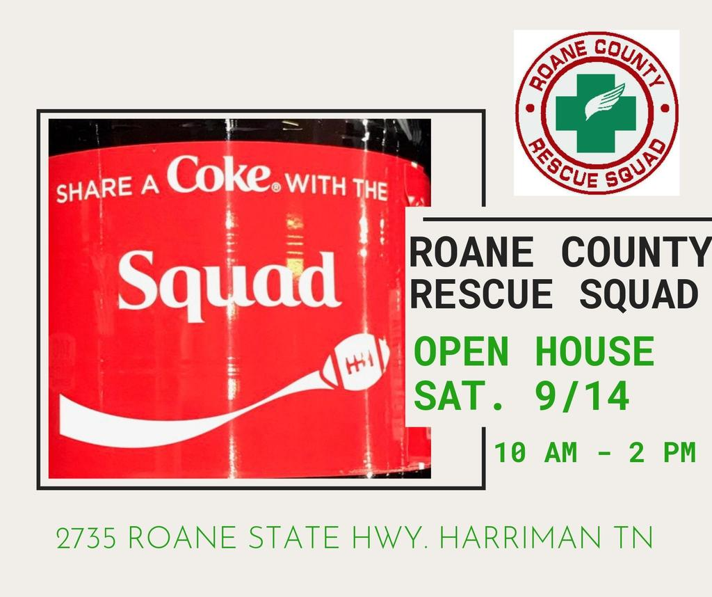 Roane County Rescue Squad Open House Coke Label