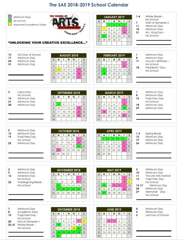 2018-2019 School Calendar Featured Photo