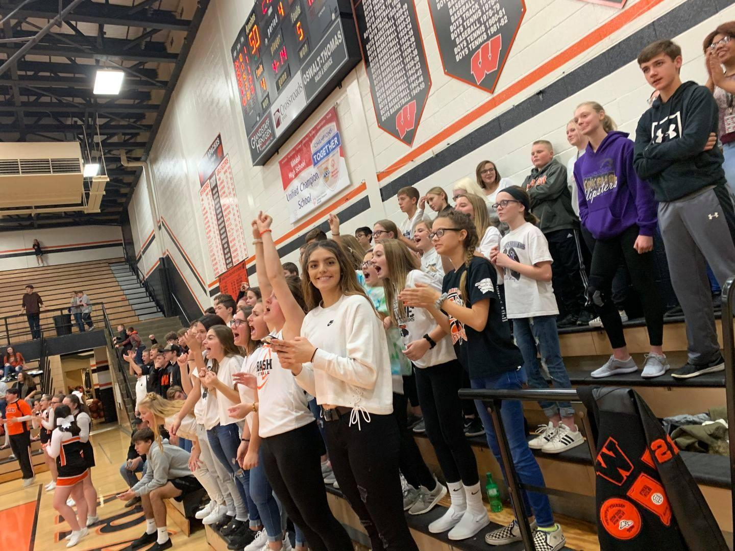 WCS Students at home basketball game