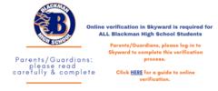 Skyward verification form info